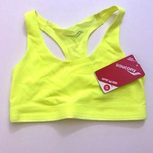 🆕Saucony neon yellow sweet elite bra